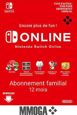 Abonnement Nintendo Switch Online Familial pendant un an (23,99€ avec le code POURVOUS5)