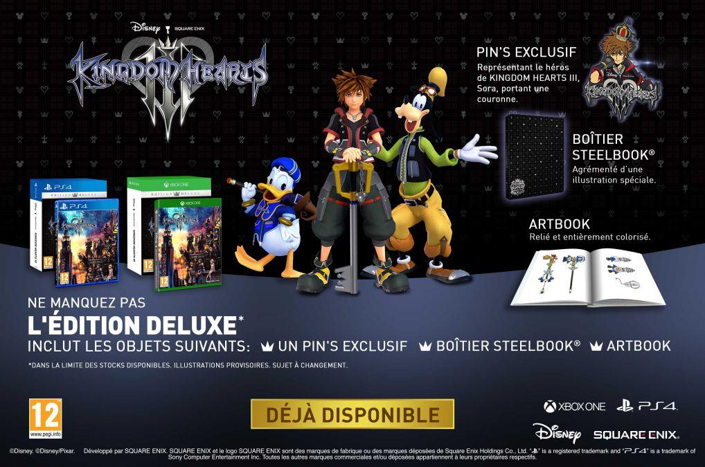 Kingdom Hearts III Deluxe Edition sur PS4