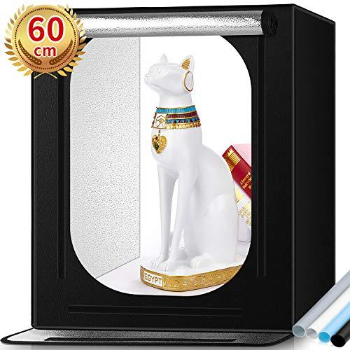 Boîte Studio Photo Samtian avec Lumière - 60 × 60 × 60cm (Vendeur Tiers)