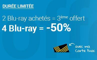[Adhérents] 50% de réduction pour 4 blu-ray achetés
