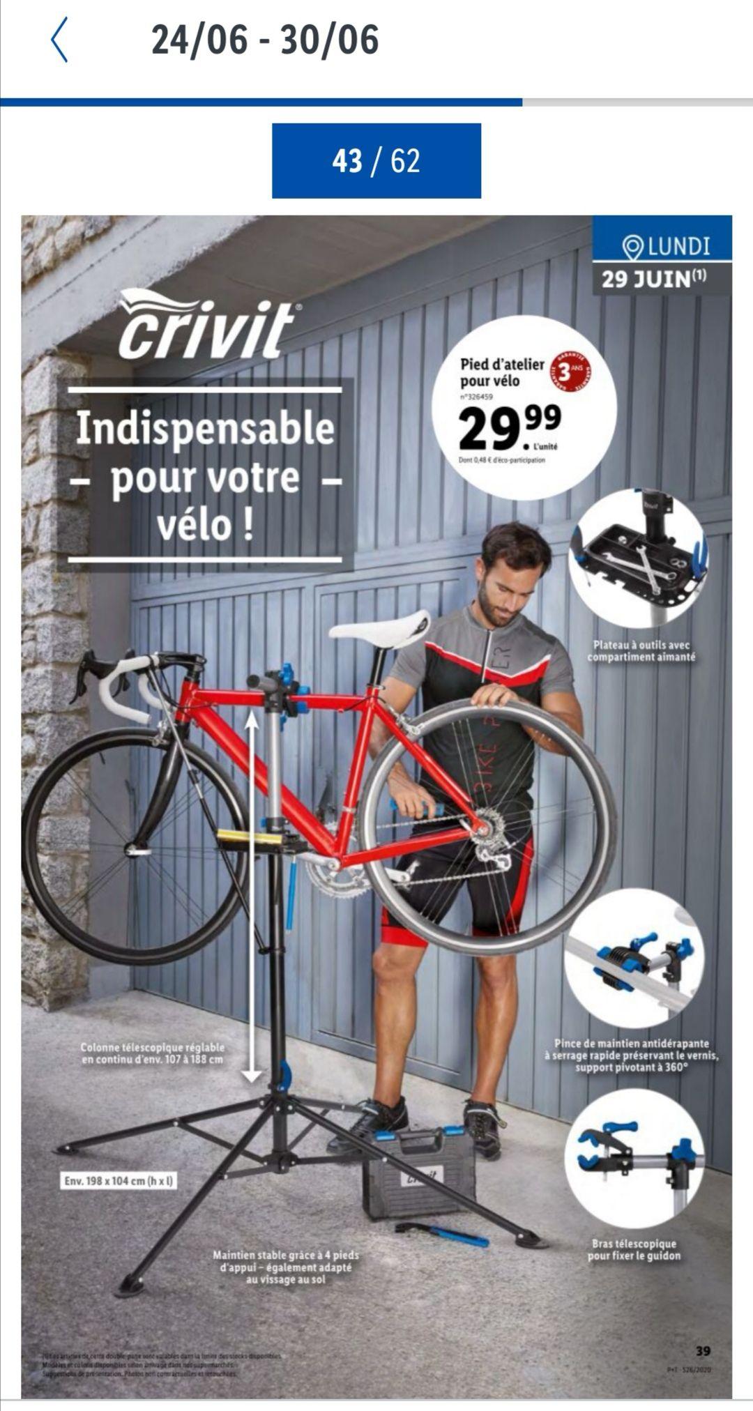 Pied d'Atelier Elévateur Crivit pour Vélos