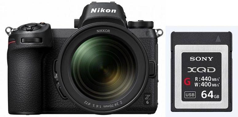 Appareil photo Nikon Z6 + Objectif Nikkor Z 24-70mm f/4 S + Carte mémoire 64 Go XQD (foto-erhardt.de)