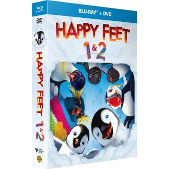 Coffret Blu-Ray + DVD : Happy Feet 1 et 2 - Édition Fnac