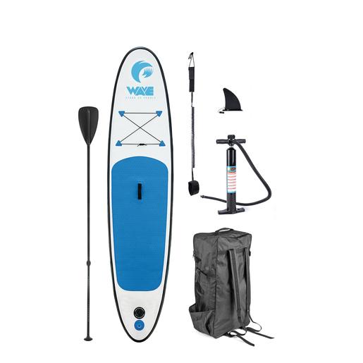 Paddle + accessoires - 305 x 71 x 10 cm - Blanc / Bleu