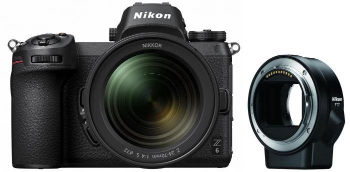 Appareil photo Nikon Z6 + Objectif Nikkor Z 24-70mm f/4 S + Adaptateur FTZ (foto-erhardt.de)