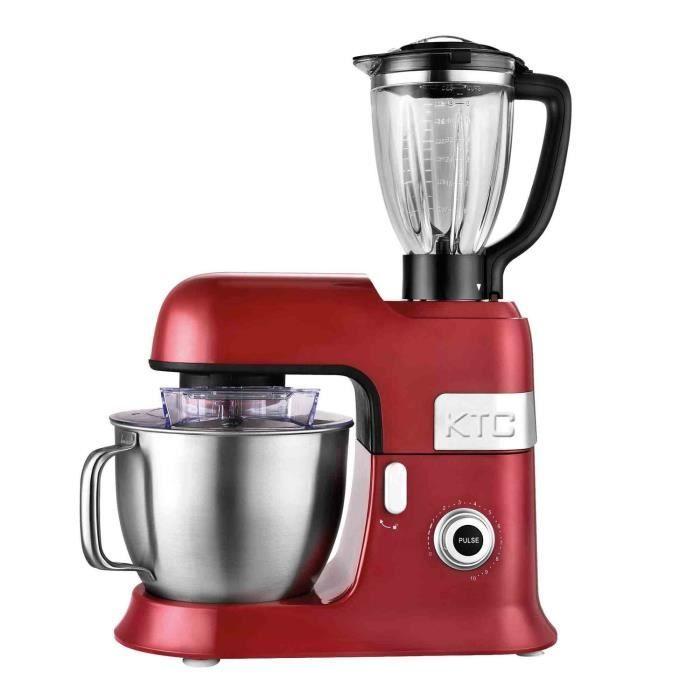 Robot pâtissier KitchenCook Expert XL - avec blender, 6.5 L, 1300 W, rouge