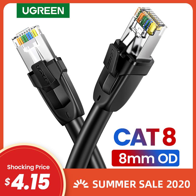 Sélection de câble Ethernet Ugreen en promotion - Ex : 20 m, cat. 8, 25 Gbp/s