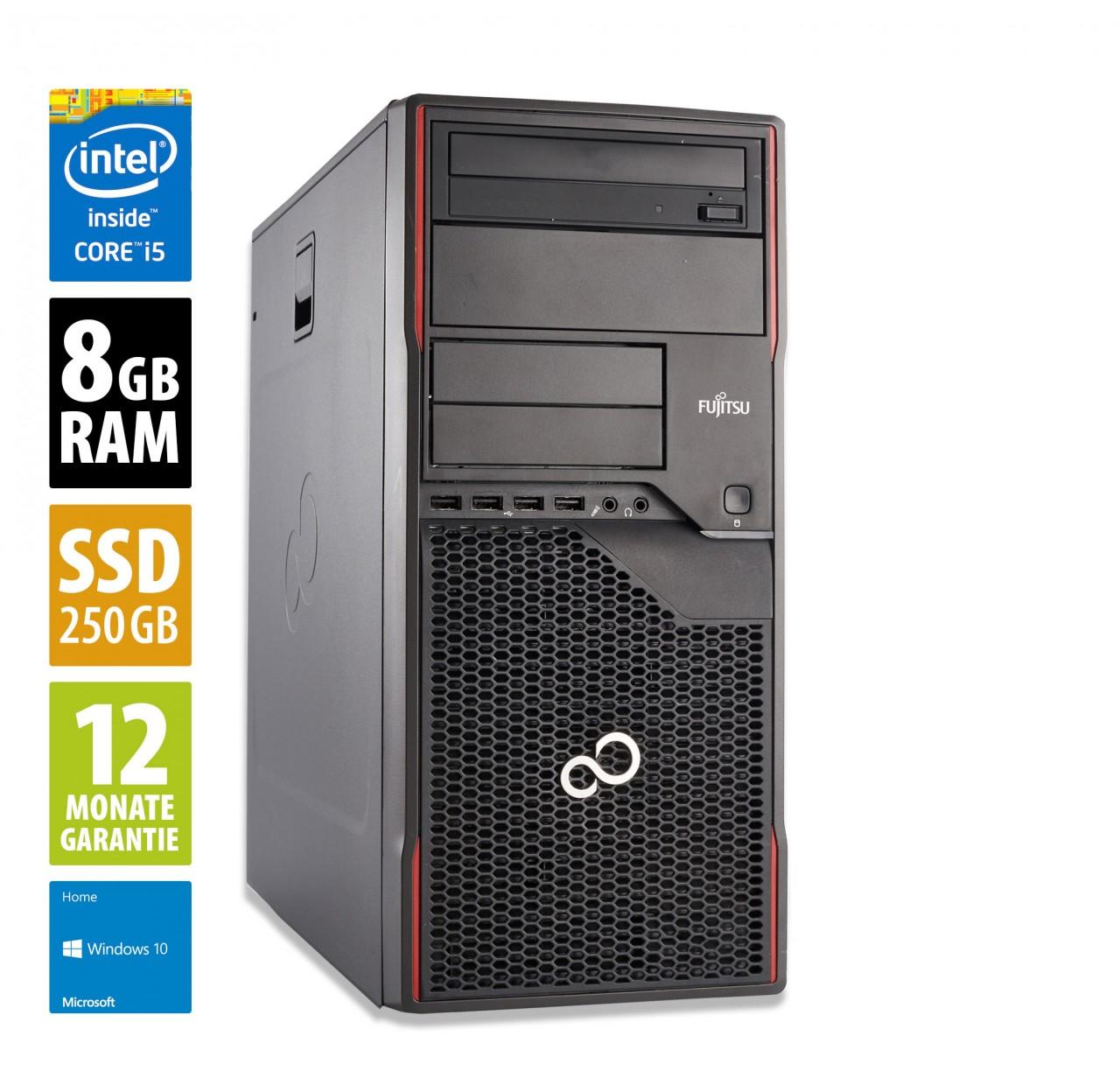 Tour PC Fujitsu Esprimo P910 MT - Core i5-3570 (3,4 GHz), 8 GoRAM, 250 Go SSD, Lecteur DVD-RW , Windows 10 (Reconditionné) - afbshop.de