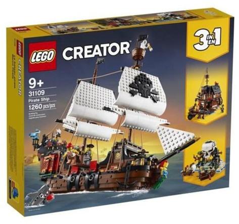 Jouet Lego Creator - Le bateau pirate (31109)