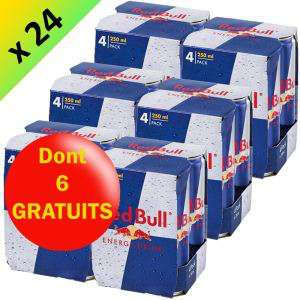 Pack de 24x25cl Red Bull Energy Drink (soit 0,92€ l'unité)
