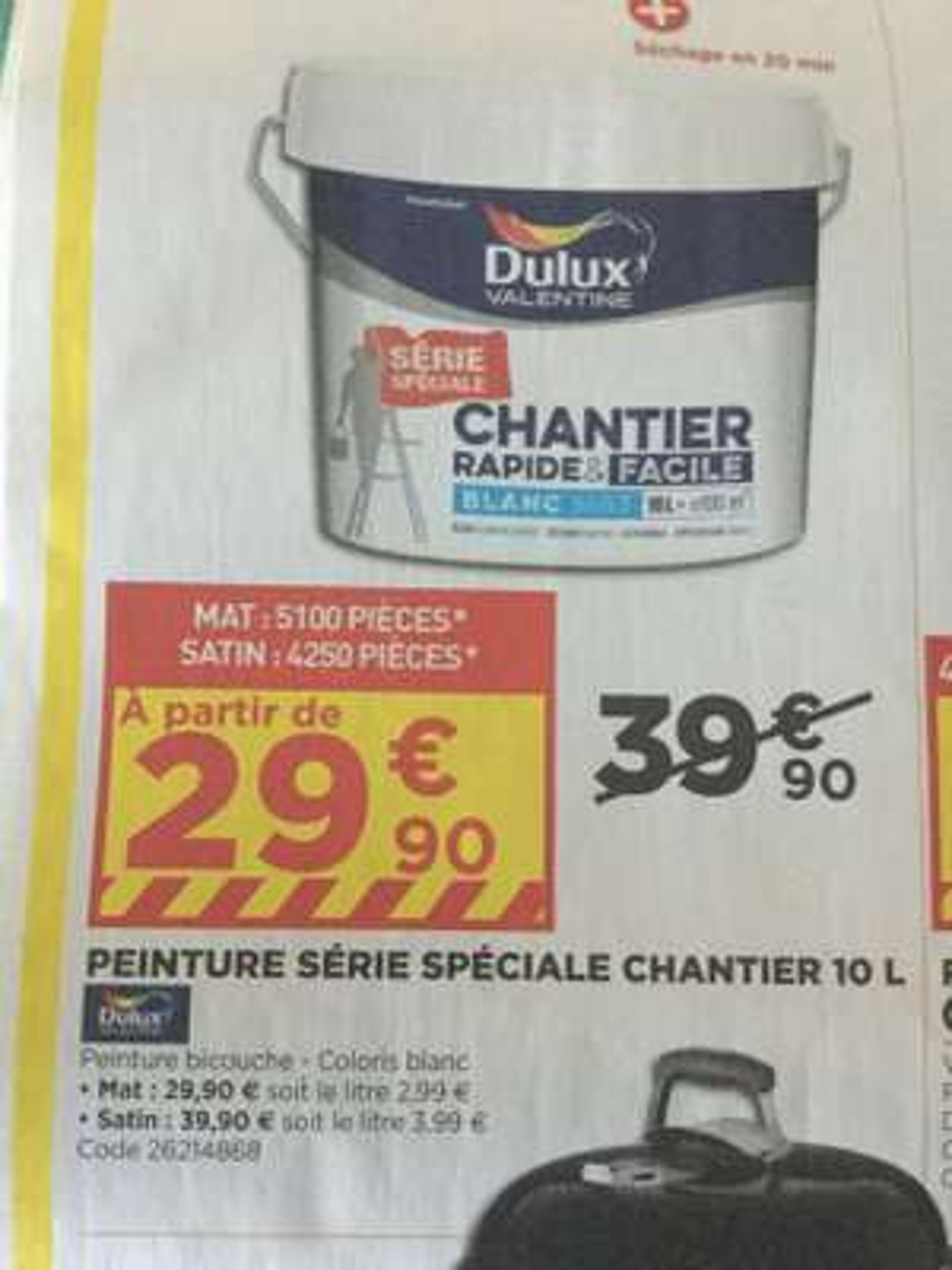Peinture Dulux Spécial Chantier - 10L