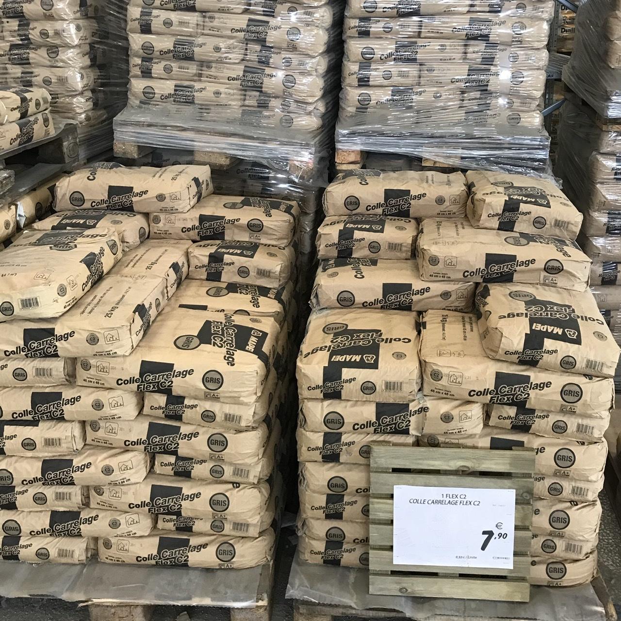 Mortier Colle à carrelage Flex C2 Grise - Sac de 25kg (Mérignac 33)