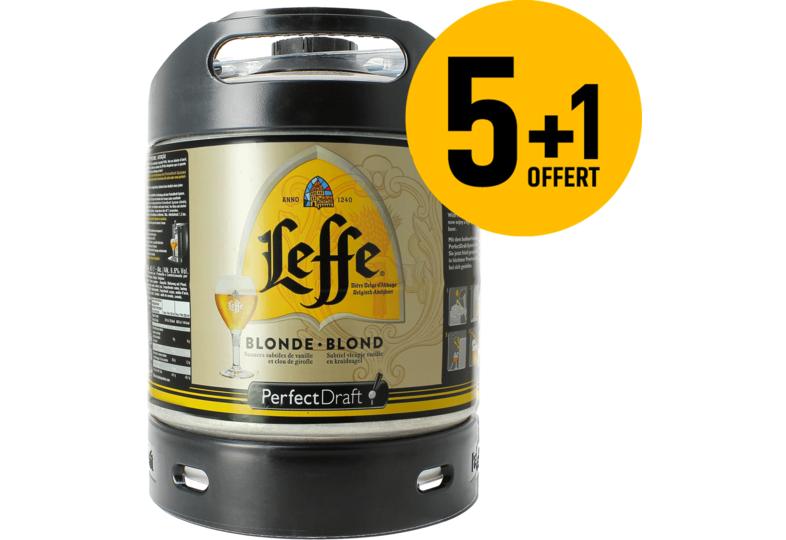 Lot de 6 fûts de bière PerfectDraft Leffe Blonde - 6x6 L (avec 30€ de consigne incluse)