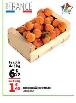 Colis d'Abricots - 5Kg, Origine France