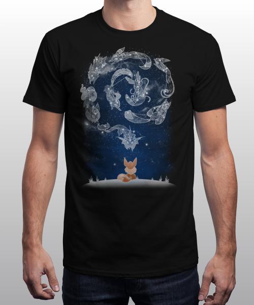 Sélection de T-shirts en promotion - Ex : Starry Evolutions