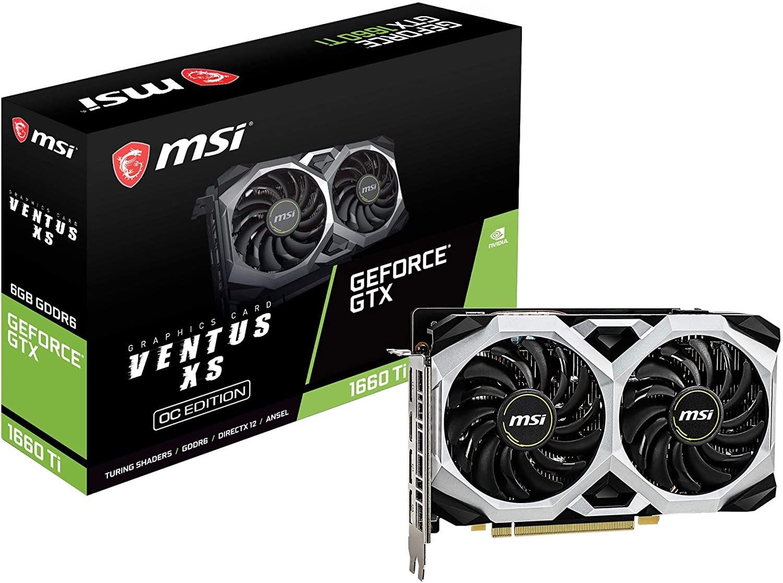 Carte Graphique MSI GeForce GTX 1660 Ti Ventus XC - 6 Go