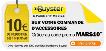 10€ de réduction dès 11€ d'achats avec paiement via Buyster + Livraison gratuite