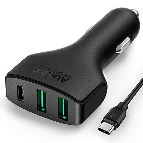 Chargeur de voiture Aukey CC-Y3 - 49.5W, USB C + Câble USB-C 1m (Vendeur Tiers)