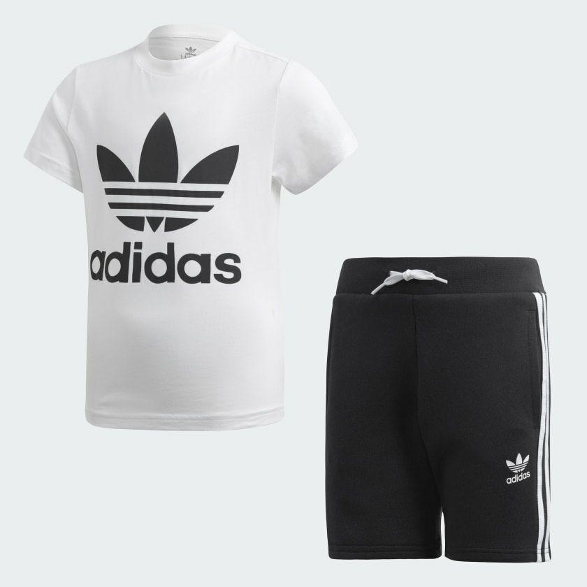 Ensemble T-shirt + Short Adidas Trefoil - Taille: 3/4 ans