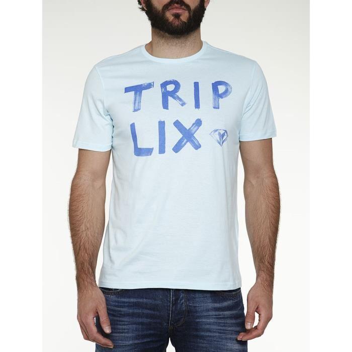 Sélection de T-shirt Homme en coton - Ex : T-shirt Triplix