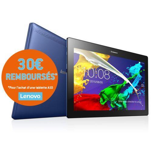 """Tablette 10.1"""" Lenovo Tab 2 A10-30 IPS - Bleu marine (via ODR de 30€)"""