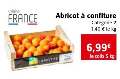 Cagette d'abricots à confiture - 5 kg, Origine France, Catégorie 2