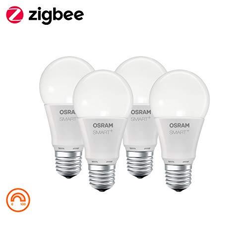Lot de 4 ampoules LED connectées Osram Smart+ - E27, 8W (équivalent 60W)