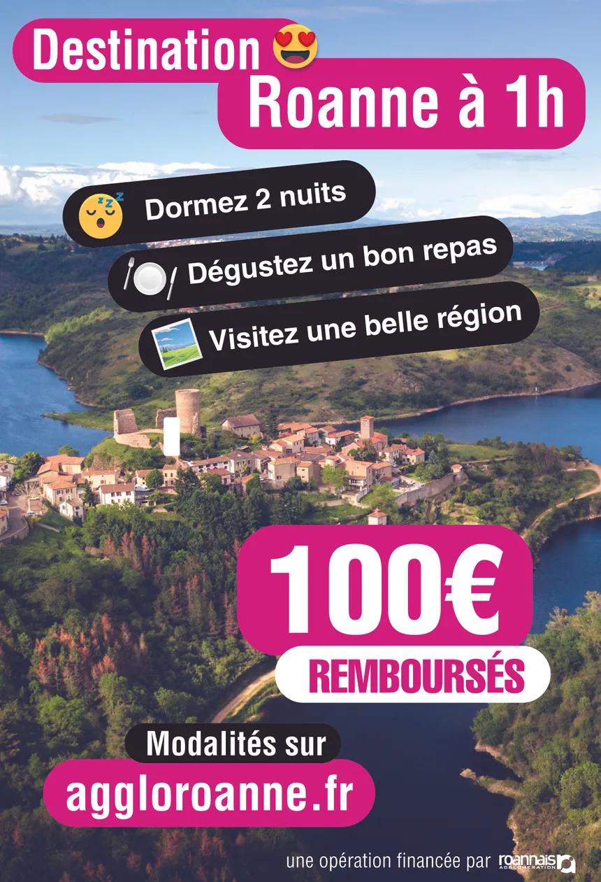 [Sous Conditions] 100€ remboursés pour tout séjour de 2 nuits minimum + Restaurant traditionnel - Roanne (42)