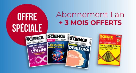 Abonnement d'un an au magazine Pour La Science - 12 numéros + 3 offerts (Format papier - pourlascience.fr)