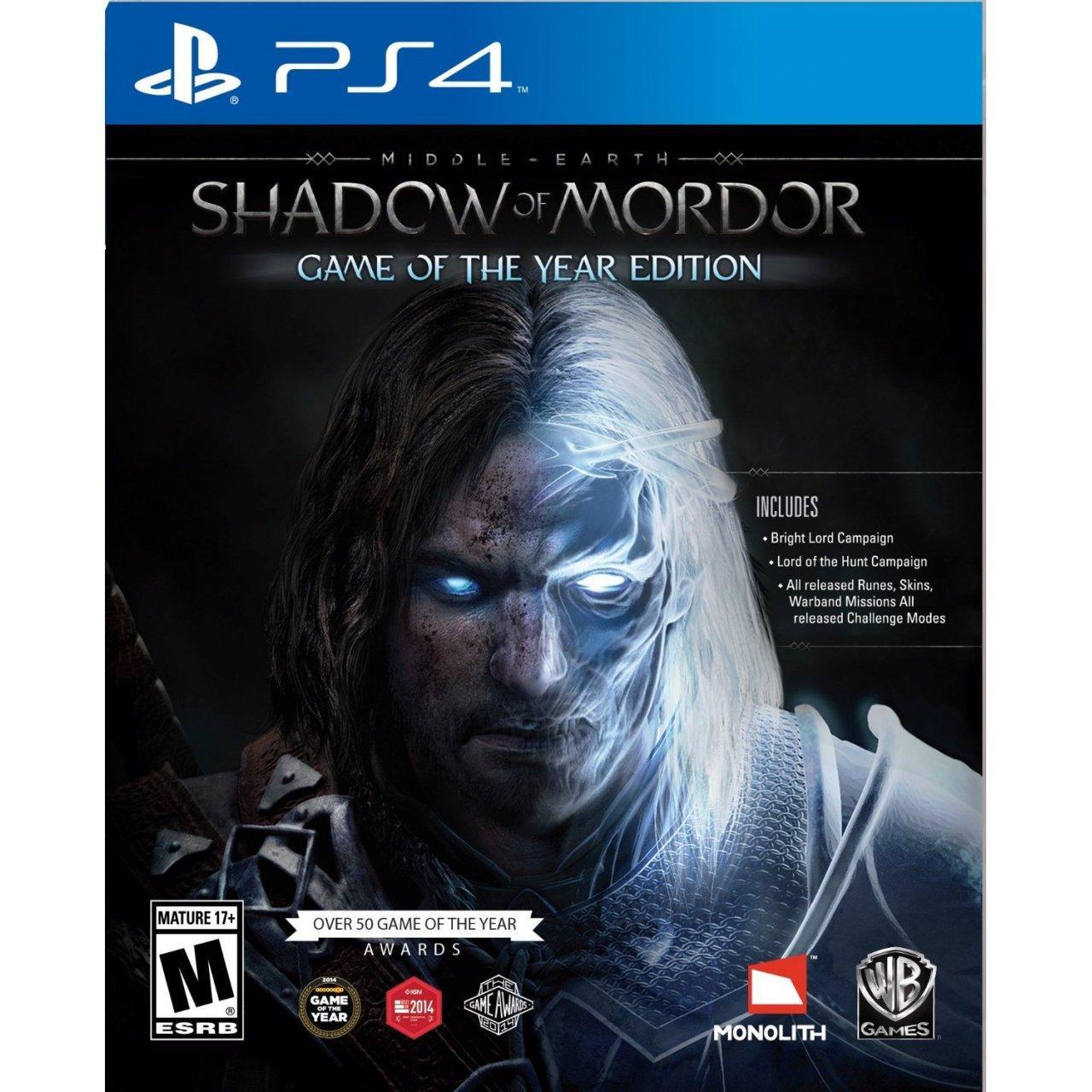 La Terre du Milieu : L'ombre du Mordor sur PS4 (Game Of The Year)