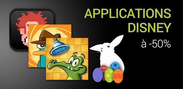 Sélection d'applications Disney à -50%, soit