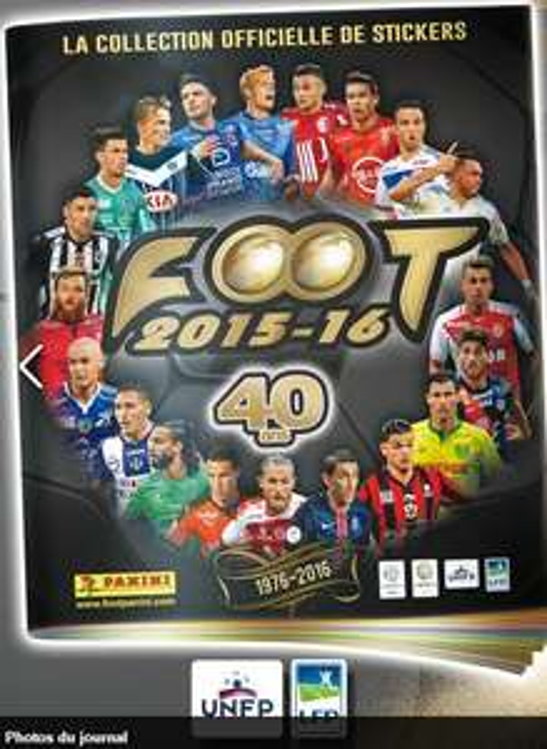 Album Panini Foot 2015-2016 offert