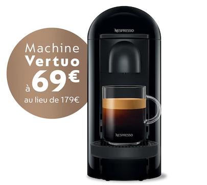 Cafetière à capsule Nespresso Vertuo Plus - Noir