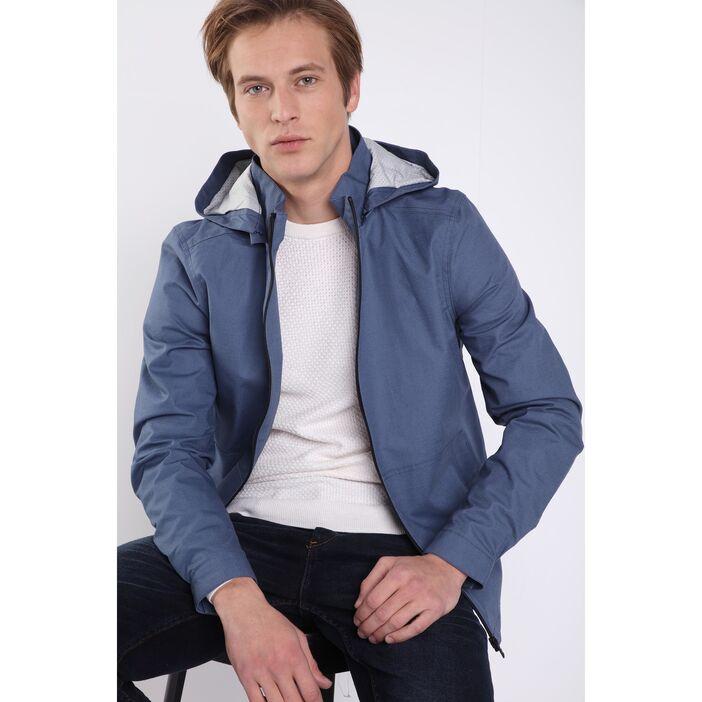 Jusqu'à 70% de réduction sur une sélection d'articles - Ex :Veste oversize à capuche bleu gris homme