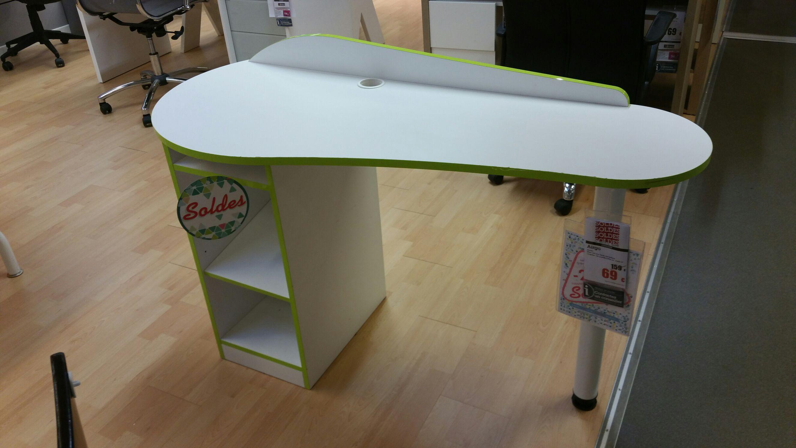 Bureau Alinéa Airgo - Blanc et vert
