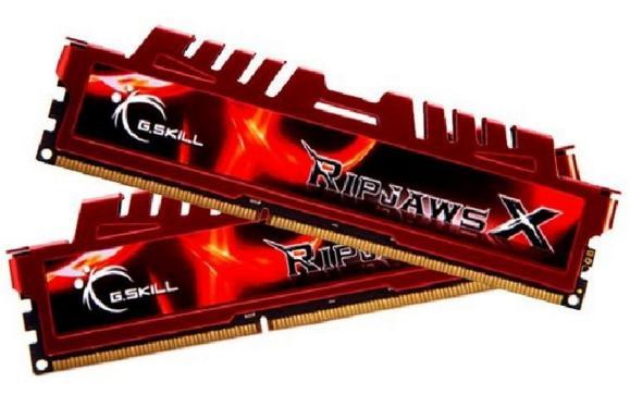Kit mémoire DD3 G.Skill Ripjaws 8Go (2x4 Go) - PC12800, 1600Mhz, CL9