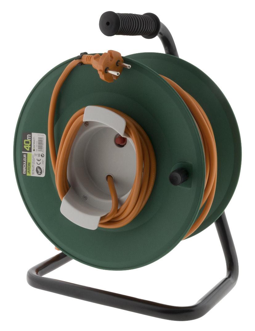 Enrouleur de Câble Electrique de Jardin Inotech ho5vvf - 40m