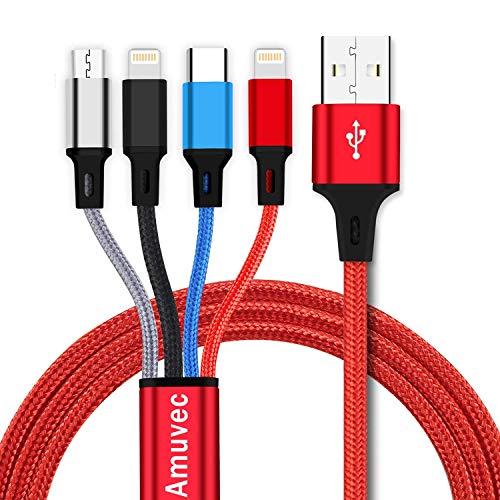 Câble USB > microUSB / Lightning / USB type-C Amuvec - 1.2 m (vendeur tiers)