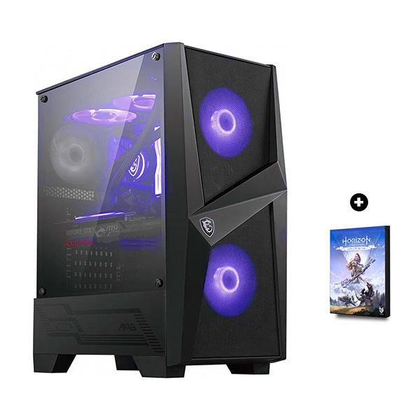 Ordinateur Strike - Ryzen 5 3600, RTX 2070 Super OC (8Go), 16Go de RAM (3200Mhz), 500Go SSD NVMe, beQuiet! 600W + Horizon Zero Dawn (démat.)