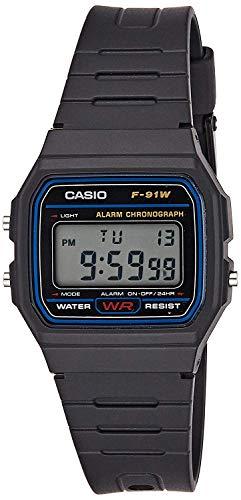 Montres Casio bracelet F-91W-1DG - Noir (Vendeur Tiers)