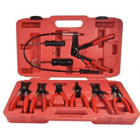 Kit Pince à clip et auto serrant Varan Motors VT01068 - 10 pièces