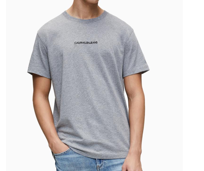 T-Shirt Calvin Klein - Coton bio, Gris, Du XS au 2XL