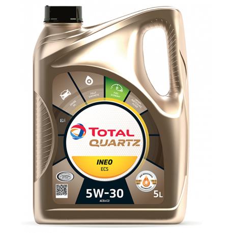 Bidon d'huile moteur Total Quartz Ineo ECS 5W30 (5 L) - Endado.fr