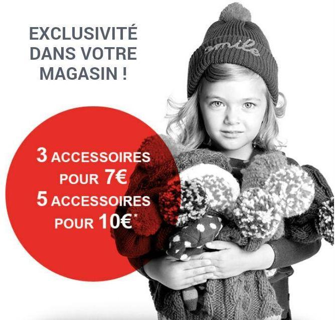 3 accessoires au choix pour 7€ ou 5 accessoires
