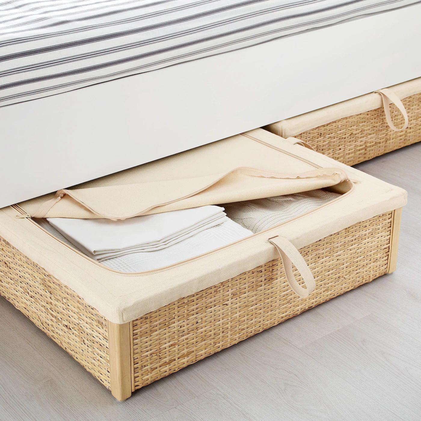[Ikea Family] Rangement pour lit Römskog - en rotin, 65x70 cm