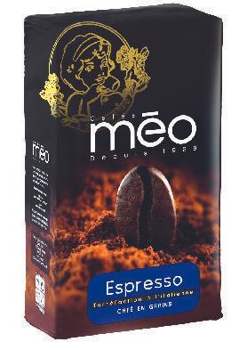 Lot de 2 paquets de café Expresso en grains Meo - 2 x 1 kg