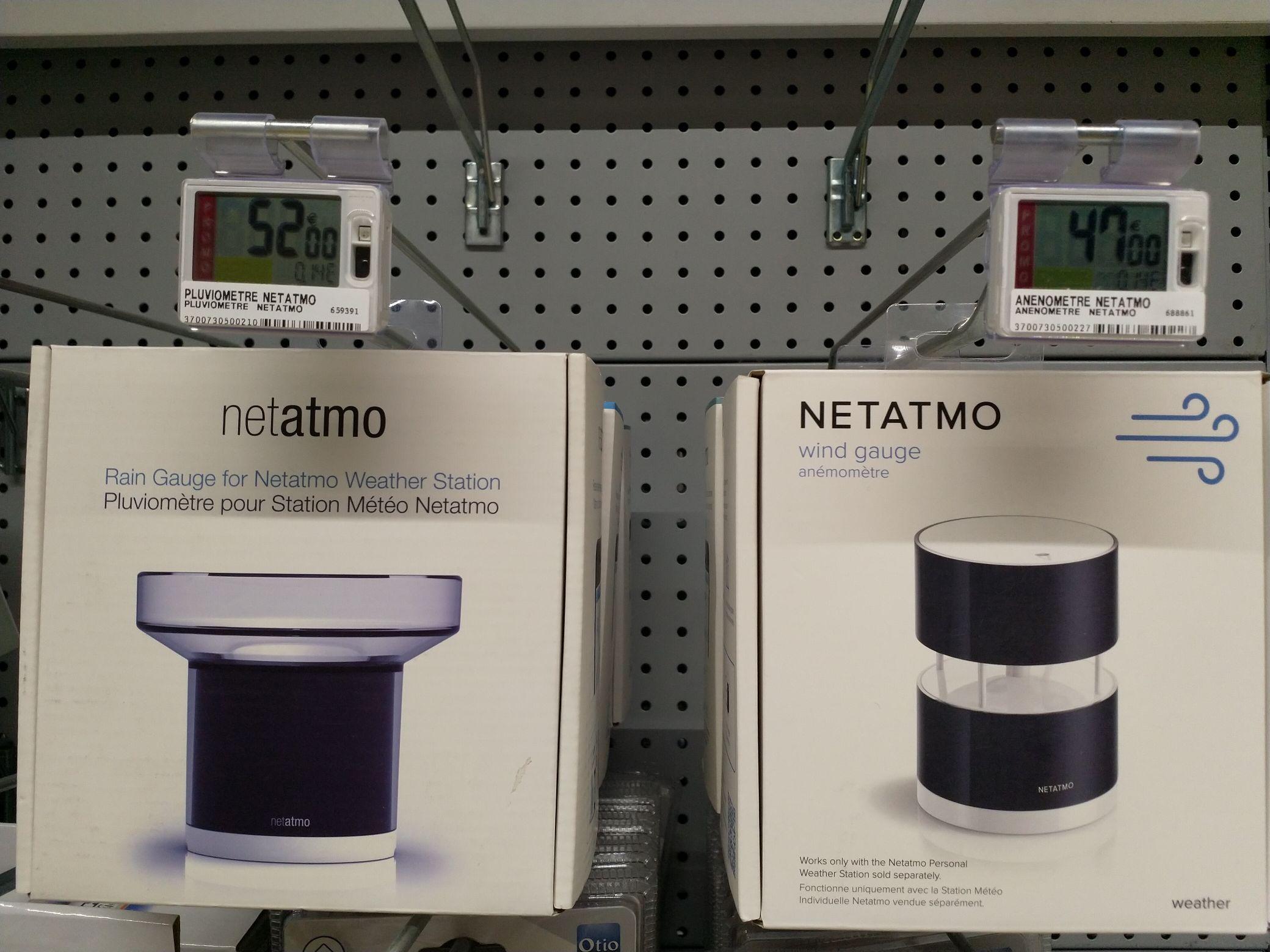 Sélection d'articles Netatmo en promotion - Ex: Anémomètre Netatmo - St Clément de Rivière (34)