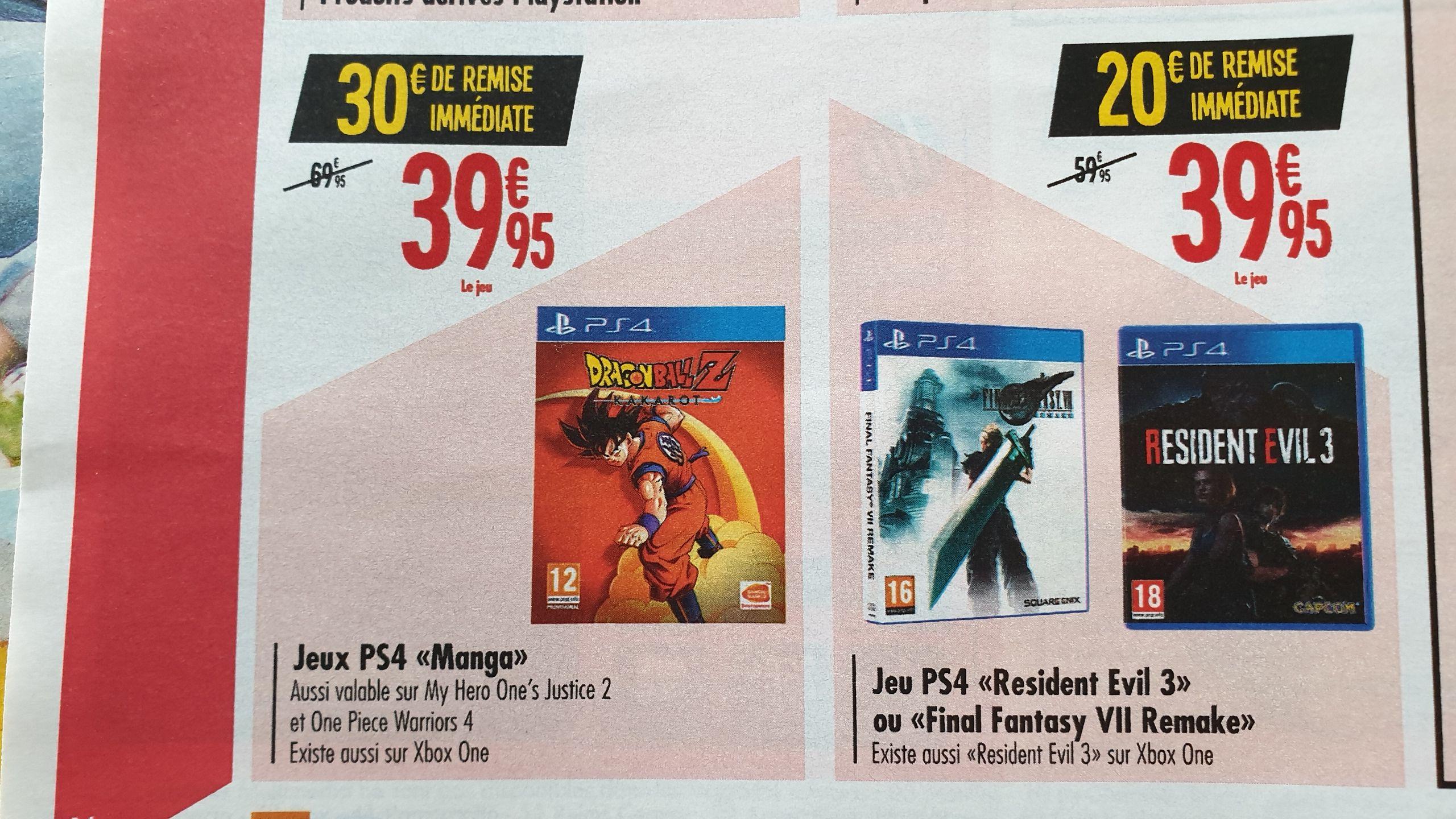 Sélection de Jeux PS4 / Xbox One à 39,95€ - Ex: Dragon Ball Z Kakarot