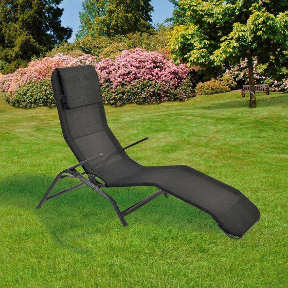 Chaise longue a bascule Garden Feelings - 174 x 67 x 96 cm