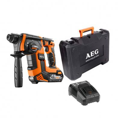 Perforateur Burineur sans fil AEG SDS+ BBH18BLLI-401C - 18V, Brushless, 2,5J + 1 batterie Li-Ion 4Ah + Chargeur + Coffret